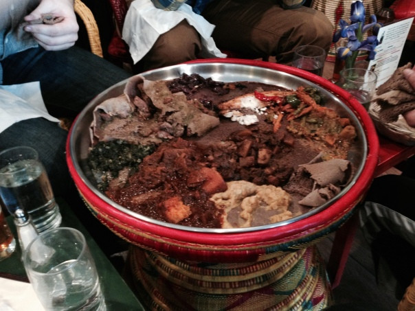 The Chicago travelers shared a new and delicious experience of eating Ethiopian food