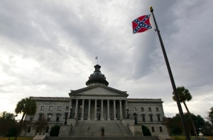 A Confederate flag flies outside the South Carolina State House in Columbia, South Carolina January 17, 2012. REUTERS/Chris Keane (UNITED STATES - Tags: POLITICS) - RTR2WFA2